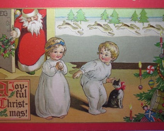 Antique Christmas Postcard 1910 Tuck,s