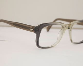 Vintage Mens Eyeglasses 1950s/60s / Grey Translucent Frames / SRP brandrh203