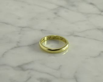 Antique 18K Gold Band Dated 1910 (size 7)