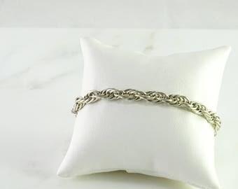 """Multi Link Sterling Bracelet 7 3/4"""""""