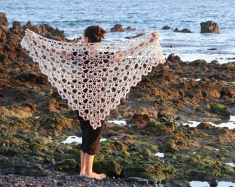 Angora Mink Crochet Shawl