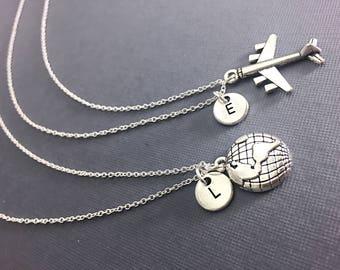 925 Sterling Silver, Best Friend Necklace For 2, Best Friend Long Distance, BFF Necklace, Long Distance Gifts, Personalized, Custom, Friend