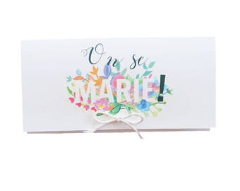 Send full stationery - thank you - RSVP - Invitation - Save the date - Menu - name table - watercolor - country wedding-