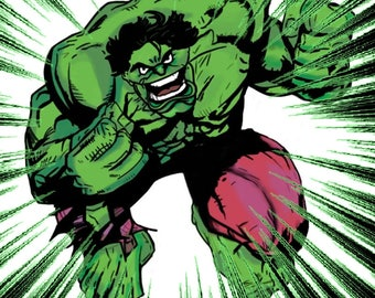 THE INCREDIBLE HULK Father's Day Card / Greeting Card