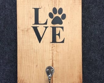 Love Dog Paw Leash Holder - Hanger