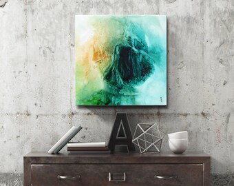 SPRING SERIES #1019, Artist-Signed, Abstract Giclee Wall Art Print, Modern Home Decor, Contemporary Art, Acrylic Painting