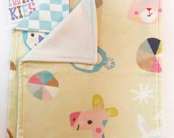 Organic cotton security blanket, lovey blanket, Twinkies, animal print blanket, baby shower, baby gift, organic baby gift, comfort blanket