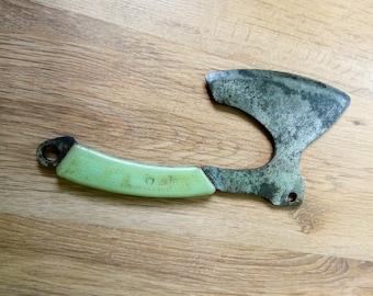 PRIMITIVE MASSIVECLEAVER Knife Meat &Veg Chopper OLD Vintage Farmhouse Bladeantique hand-forget meat cleaver butcher knife chopeer