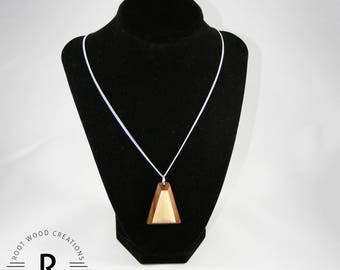 One-of-a-Kind Wood Necklace | Lovingly Made with Walnut and Maple Woods | Unique Design