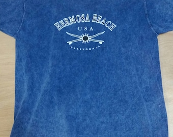 Acid Wash Hermosa Beach T-Shirt - XL