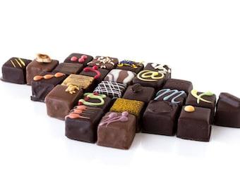 Fine chocolate morsels box, 12 unit per box, chocolate morsels, fine chcocolate, dark chocolat box, milk chocolate box, valentine's day