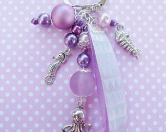 Key ring / sea theme bag charm