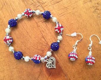 PATRIOTIC jewelry set