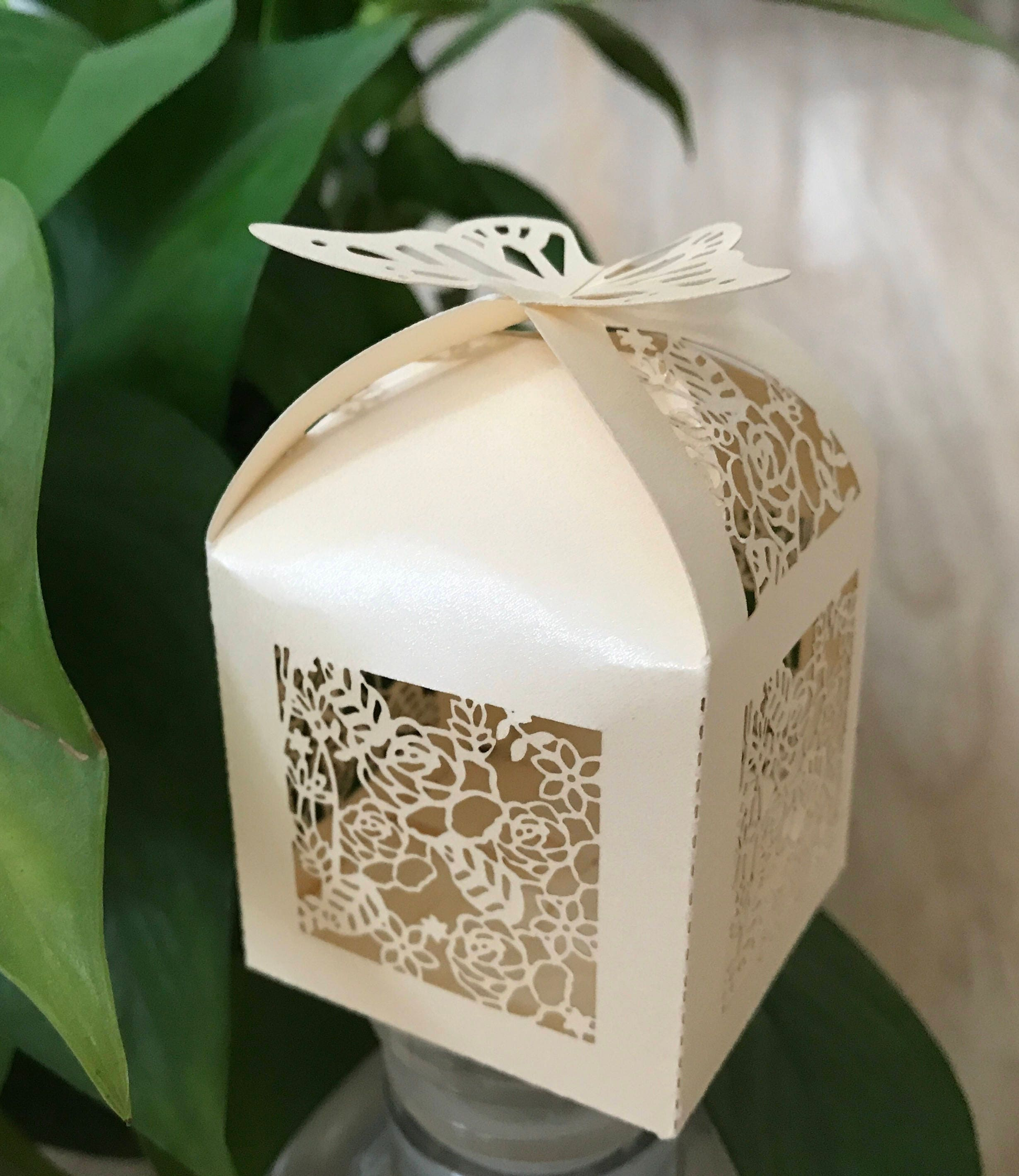 100pcs Butterfly Laser Cut Wedding Favor Boxes,Best for Candy Boxes ...
