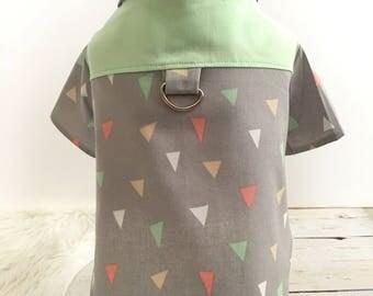 dog clothes, Dog dress, dog clothing, puppy dress, puppy clothes, Dog buttonup shirt, Screech