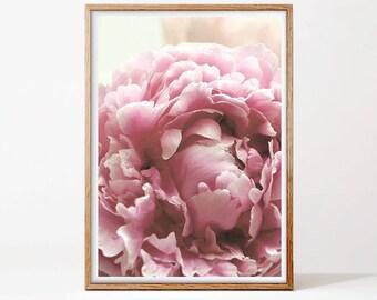 Peony Print, Printable Wall Art, Floral Print, Pink, Wall Art, Digital Download, Flower Print, Gift for Her, Peony, Art Prints, Room Decor