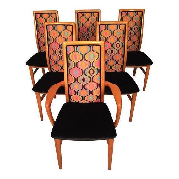 Mid-Century Danish set Of 6 SCHOU ANDERSON dinning chairs