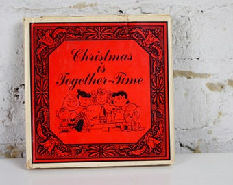Charlie Brown Book Christmas is Together Time 1964