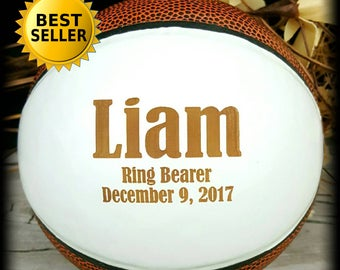Ring Bearer Gift, Engraved Basketball, Mini Basketball, Groomsmen, Engraved Gift, Christmas Gift, Sports, Keepsake