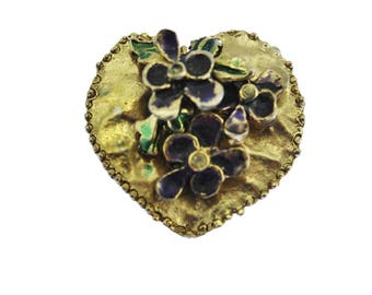 Rare Frederick Mosell Pansy Brooch, Rhinestone Pansy Brooch, Rhinestone Flower Brooch, Rhinestone Pansy Pin, Rhinestone Pansy Pin