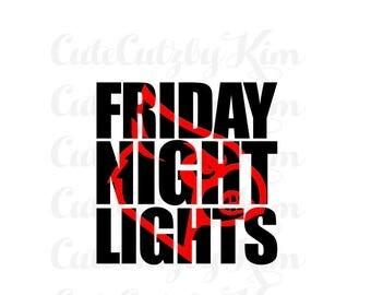 football svg, friday night lights cardinal