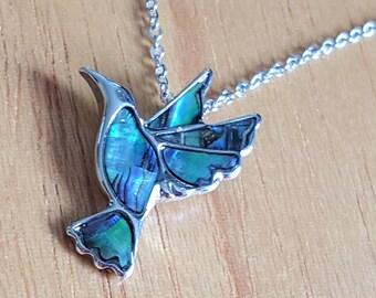 Hummingbird Bird , Necklace, Hummingbird, Hummingbird Pendant, Hummingbird Jewelry, Hummingbird Gift, Abalone Hummingbird,