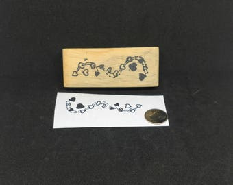 Heart Chain rubber stamp