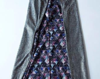 Silver Psychedelic Triangle Cape