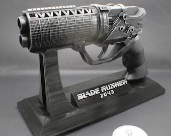 Officer K's Blaster Pistol with Custom Stand Inspired by Blade Runner 2049 Movie