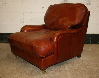 Great Shaped Vintage Style Leather Armchair