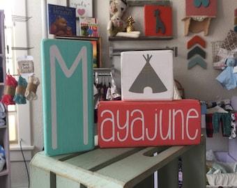 Nursery Blocks, Personalized Blocks, Name Blocks, Personalized Signs, Nursery Signs, Nursery Decor, Wood Signs, Nursery Wood Signs, Nursery