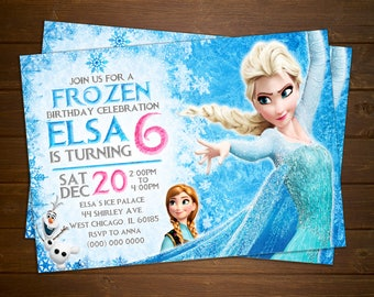 Custom Frozen Movie Birthday Invitation - 5x7 or 4x6