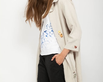 NOT YOUR TOY cotton Linen Jacket