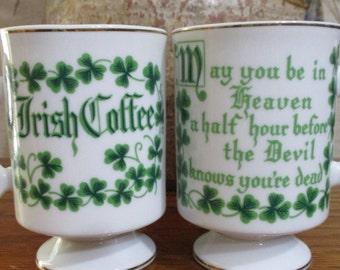 Set of 2 Irish Coffee Mugs