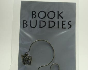 Handmade Butterfly Bookmark with Pewter Butterfly Charm-Book Buddies Bookmark-Back to School/Teacher/Book Lover Gift-Made in Medina,OH USA!