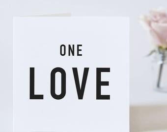 One Love Valentine's Day Card