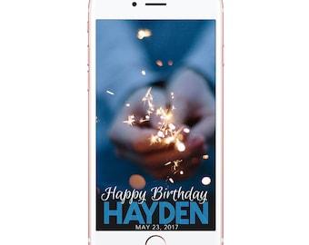 Snapchat Filter Birthday | Snapchat Geofilter Birthday party Filter | Birthday | Man Guy Boy | Personalized Custom Filter | DIGITAL FILE