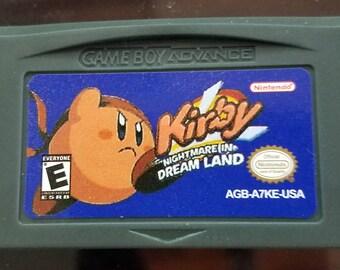 Kirby Nightmare in Dream Land English Custom Game Boy Advance GBA