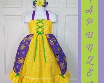 Rapunzel Dress, Tangled Dress, Party Dress,  Character Birthday, Character Dress,Disney Princess, Princess Dress,
