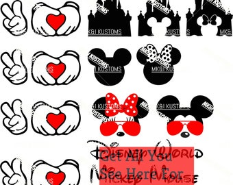 Disney Svg/ Mickey Mouse Svg/ Minnie Mouse Svg/ Mickey Svg/ Minnie Svg/ Disney Mickey Svg/ Disney Family/Disney Minnie Svg/Disney Castle Svg