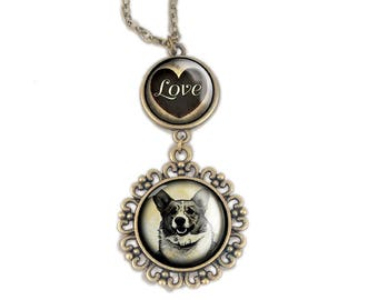 Corgi Love pendant necklace