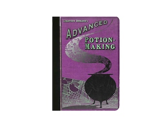 Harry Potter-POTION MAKING Inspired Faux Leather Folio/Book Case for IPad 2 IPad 3 Ipad 4 Ipad Air/Air 2 Ipad Pro 9.7 IPad 12.9 PURPLE Print
