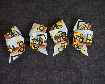 "Construction Equipment 3"" Hair Bow/Clip Set"