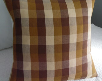 Plaid pillow covers.Black.Gray. Cream.Brown,cream.natural.Red.Pillow Cover.Check.Holiday decor.Country Decor.Toss Pillow Cover.Throw Pillow