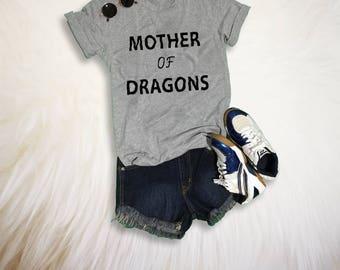 Mother of dragons Shirt Tumblr T Shirts Gift for mom Funny Mom Shirt Dragon TShirt Mother Shirt Womens Instagram Fashion T-Shirt