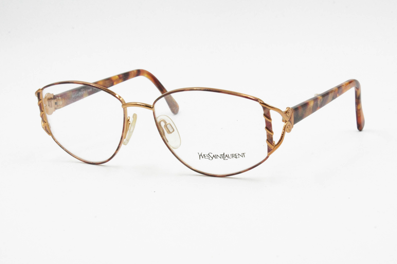 deeaef18397 Yves Saint Laurent YSL mod. 4058 Y262 oval womens eyewear simil bronze and  dappled