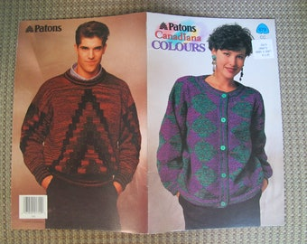 Patons Canadiana Colours / Knitted sweater patterns / Patons 679 / Womens Mens sweaters