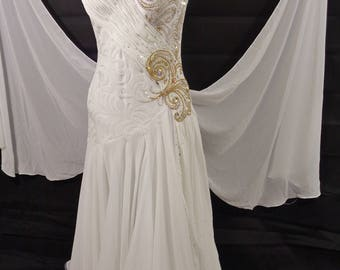 White Ballroom Dance Dress