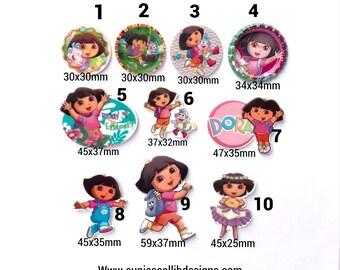 Dora  flat back resin,embellishment