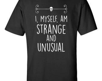 "Beetlejuice ""I, myself, am strange and unusual"" Quote Tshirt"